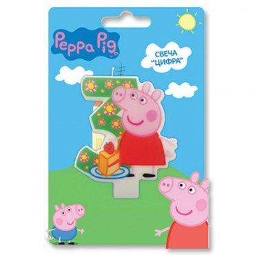 свеча 3 с героями Свинка Пеппа
