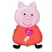 Свинка с сердечком