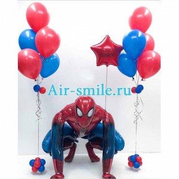 Оформление шарами праздника человек-паук