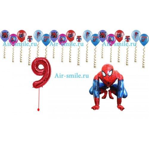 Украшение шариками с человеком пауком и ходячая фигура