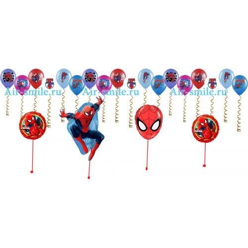 Воздушные шарики со спайдер меном на детский праздник