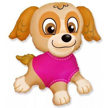 Фольгированный шар щенячий патруль в розовом