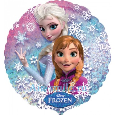 Фольгированный шар Эльза и Анна Холодное Сердце