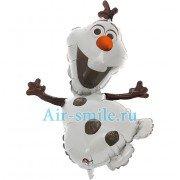 Фольгированный шар Снеговик Олалфф