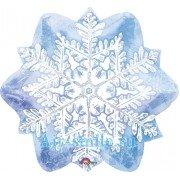 Фольгированный шар крупная Снежинка