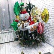 "Комплект шаров ""Дед мороз и снеговик"""