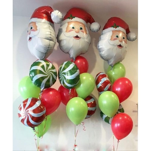 Фонтан из шаров на новый год с карамельками