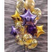 """Букет шариков на новый год """"Новогодняя звезда"""""""