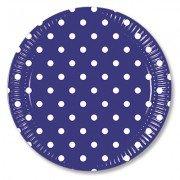 Тарелки Горошек синий