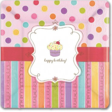 Тарелки квадратные сладкий праздник