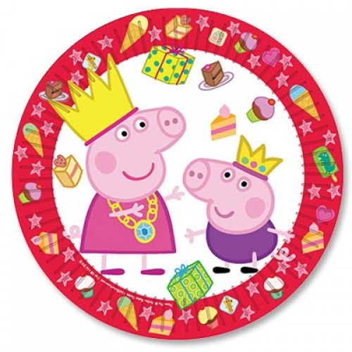 Тарелка с персонажами мультфильма свинка пеппа