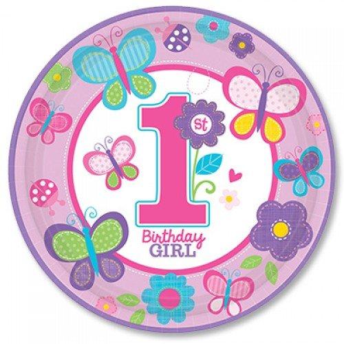 Тарелка на первый день рождения девочки