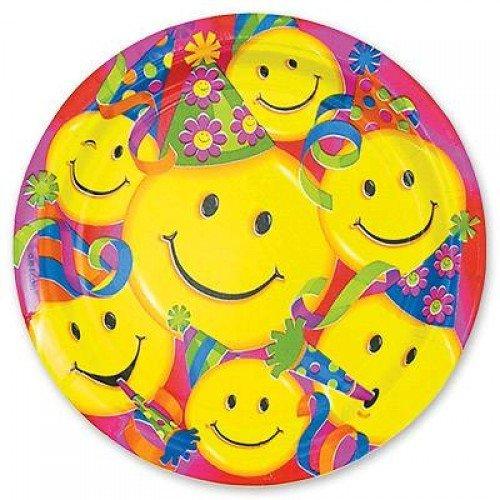 Тарелка с изображением улыбок в колпачках