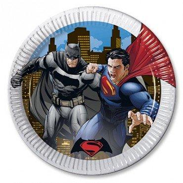 Тарелка Бетмен против супермена