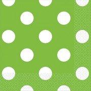 Салфетки Зеленые Киви Горошек