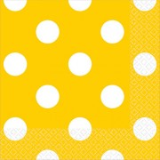 Салфетки солнечно-желтые Горошек