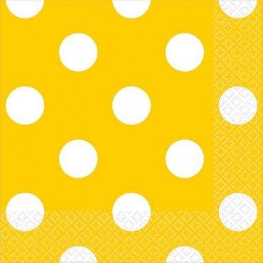 Салфетки в желтый горошек
