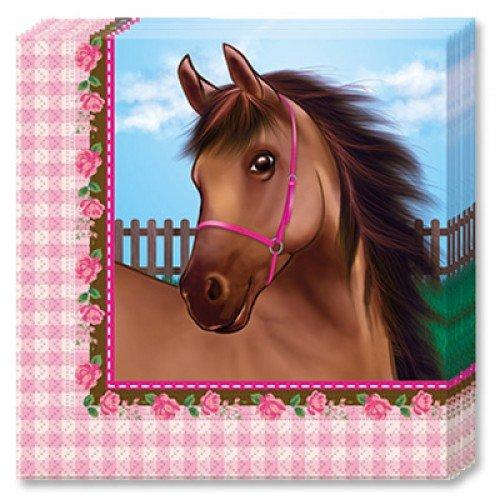 Салфетка с изображением лошадки