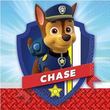Салфетки с героем мультфильма щенячий патруль Чейз