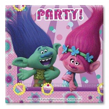 Салфетки с изображение троллей из мультфильма