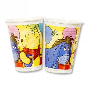 Пластиковые стаканчики с изображением Винни Пуха и Ослика Иа