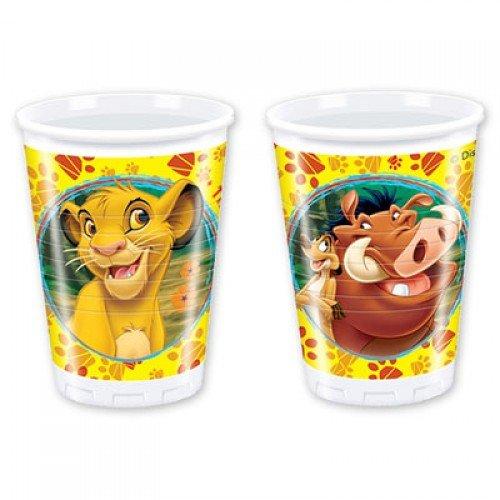 Пластиковые стаканчики с изображением Короля Льва