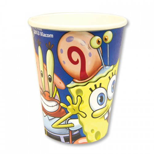 Бумажные стаканчики с изображением Спанч Боба