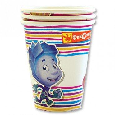 Бумажные стаканчики с изображением Фиксика