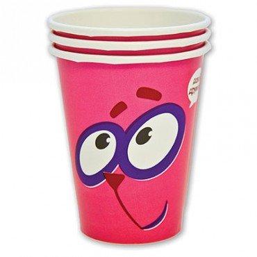 Бумажные стаканчики с изображением смешарика Ёжика