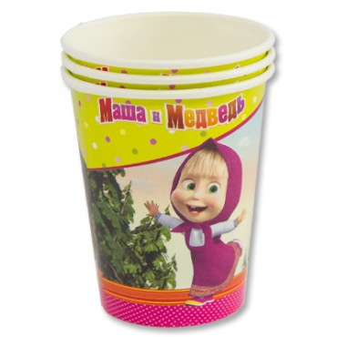 Набор стаканов с изображением Маши и Медведя