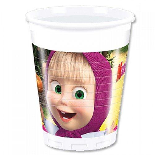Пластиковые стаканчики с изображением Маши