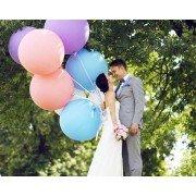 Большие свадебные шары на лентах