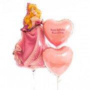 Композиция Принцесса Аврора с сердцами