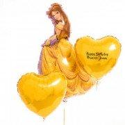 Композиция Принцесса Бель с сердцами