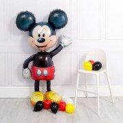 Ходячий шар Микки Маус с маленькими шариками
