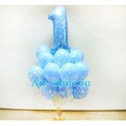 Облако шаров с цифрой 1 на годовасие