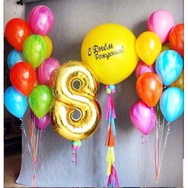 Оформление шарами детских праздников воздушными шарами