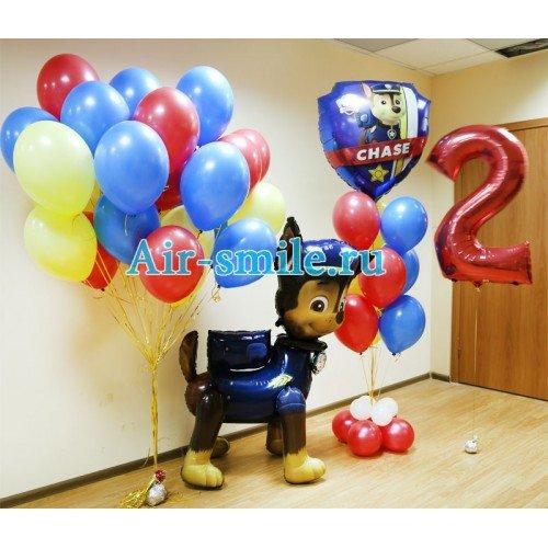 Оформление детского праздника шариками в стиле Щенячий Патруль