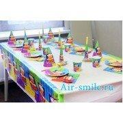 Украшение стола на детский праздник 6 персон