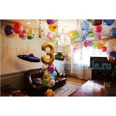 Украшение квартиры шарами для мальчика на 3 годика
