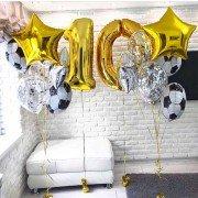 Воздушные шары на 10 лет с футбольными мячами