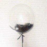 Bubble (Баблс оригинал США) 24 дюйма 61 см с чёрными перьями