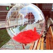 Bubble (Баблс оригинал США) 24 дюйма 61 см с красными перьями