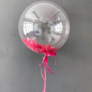 Bubble (Баблс оригинал США) 24 дюйма 61 см с розовыми перьями