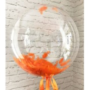 Bubble (Баблс оригинал США) 24 дюйма 61 см с оранжевыми перьями