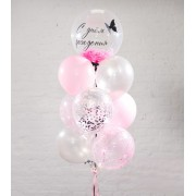 Фонтан с шаром Bubble 61 см и 9 шариками