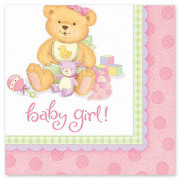 Салфетки медвежонок девочка новорожденная