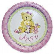 Тарелочки медвежонок девочка новорожденная