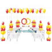Вариант украшения зала шарами на свадьбу. Вариант №13