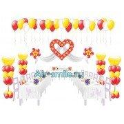 Украшение банкетного зала на свадьбу гелиевыми шариками